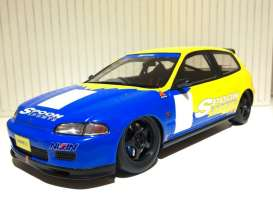 Honda  - 1993 yellow/blue - 1:18 - Tarmac - Tarmac01SP | Tom's Modelauto's