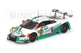 Minichamps - Audi  - mc437161129 : 2016 Audi R8 LMS MONTAPLAST BY LAND-MOTORSPORT De Phillippi/Mies ADAC GT Masters, white/green