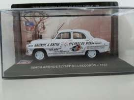 Simca  - 1957 light blue - 1:43 - Magazine Models - magSIMelysee | Tom's Modelauto's