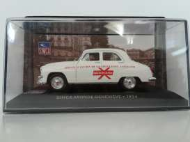Simca  - 1954 white/red - 1:43 - Magazine Models - magSIMgenevieve | Tom's Modelauto's