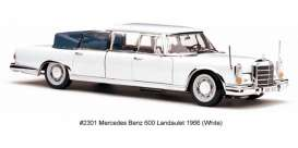 Mercedes Benz  - 1966 white - 1:18 - SunStar - sun2301 | Tom's Modelauto's