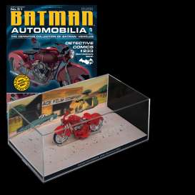 Batman  - Batwoman Bike red - 1:43 - Magazine Models - BAT051 - magBAT051 | Tom's Modelauto's