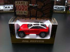 Jeep  - red - 1:36 - Magazine Models - magGTTjeepster | Tom's Modelauto's