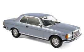 Norev - Mercedes  - nor183588 : 1980 Mercedes Benz 280 CE, silverblue metallic