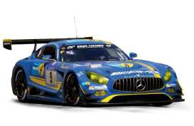 Norev - Mercedes  - nor183493 : 2016 Mercedes Benz AMG GT3 Team Black Falcon, blue