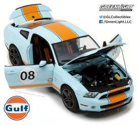 GreenLight - Shelby  - gl12990 : 2012 Shelby GT500 *Gulf Oil*, Gulf blue with orange stripes