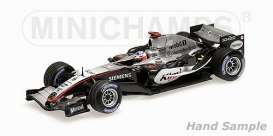 McLaren  - 2005 silver/black - 1:43 - Minichamps - 435050009 - mc435050009 | Tom's Modelauto's