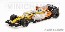 Renault  - 2008 yellow/white/orange - 1:43 - Minichamps - mc435080005 | Tom's Modelauto's