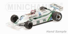 Minichamps - Williams Cosworth - mc435790128 : 1979 Williams Cosworth FW07 #28 Clay Regazzoni Winner Silverstone GP, white/green