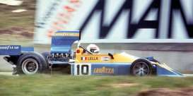 Minichamps - March Ford - mc437760310 : 1976 March Ford 761 #10 Lavazza Lella Lombardi Brazilian GP, blue/yellow