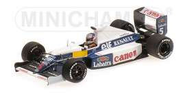 Williams Renault - 1990 white/blue - 1:43 - Minichamps - 437910105 - mc437910105 | Tom's Modelauto's