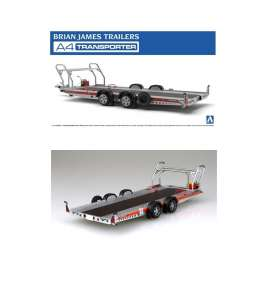 Aoshima - Brian James Trailer - abk152600 : 1/24 Brian James Trailers A4 Transporter, plastic modelkit