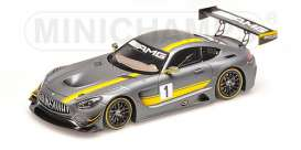 Minichamps - Mercedes  - mc437163001 : 2016 Mercedes-Benz AMG GT3 Presentation Hockenheimring, grey