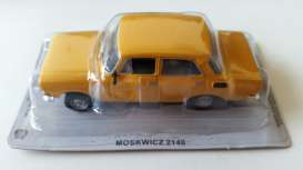 Moskvitch  - 2140 yellow - 1:43 - Magazine Models - PCmos2140y - magPCmos2140y | Tom's Modelauto's