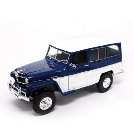 Lucky Diecast - Jeep Willys - ldc92858wb : Willys Jeep, blue/white
