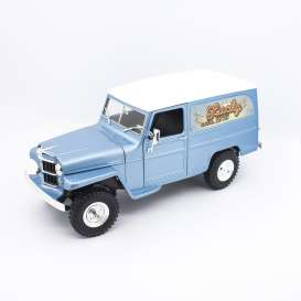 Jeep Willys - blue/white - 1:18 - Lucky Diecast - 92859 - ldc92859b | Tom's Modelauto's