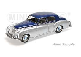 Rolls Royce  - 1954 silver/blue - 1:18 - Minichamps - mc100134902 | Tom's Modelauto's