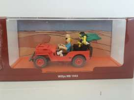 Willys  - 1943 red - 1:43 - Magazine Models - TinWillysR - magTinWillysR | Tom's Modelauto's