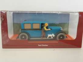 Checker  - 1929 blue - 1:43 - Magazine Models - TinChecker - magTinChecker | Toms Modelautos