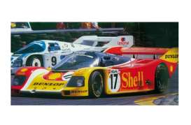 Minichamps - Porsche  - mc155876517 : 1987 Porsche 962 Stuck/Bell 200 meilen von Nürnberg, red/yellow/white