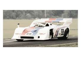 Minichamps - Porsche  - mc437736559 : 1973 Porsche 917/10 #59 Hurley Haywood Brumos Porsche Can-Am Mid-Ohio 1973 *Resin series*, white/red/blue