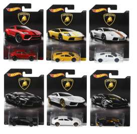 Hotwheels - Lamborghini  - hwmvDWF21~12 : 1/64 Lamborghini Car Assortment of 12 In Nice Lamborghini Packaging.
