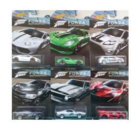 Hotwheels - Assortment/ Mix  - hwmvDWF30~12 : 1/64 Forza Racing Car Assortment of 12.