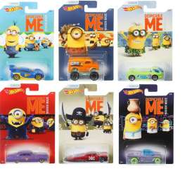 Hotwheels - Assortment/ Mix  - hwmvDWF12~12 : 1/64 Despicable Me Minions Theme Car Assortment of 12