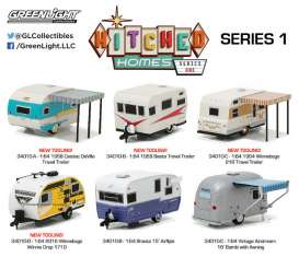 GreenLight - Assortment/ Mix  - gl34010~12 : Hitched homes series 1 assortment of 12