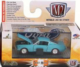 Ford  - Mustang GT 2+2 Fastback 1965 blue - 1:64 - M2 Machines - 32600-32-4 - M2-32600-32-4 | Toms Modelautos