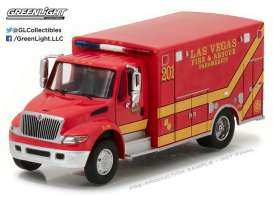 GreenLight - International  - gl33090C : 2013 International Durastar Las Vegas Fire & Rescue Paramedics *H.D. Truck series 9*