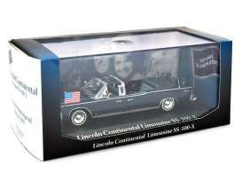 Lincoln  - 1963 blue - 1:43 - Magazine Models - prc601 - magprc601 | Tom's Modelauto's