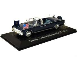 Lincoln  - 1963 blue - 1:43 - Magazine Models - prc601 - magprc601 | Toms Modelautos