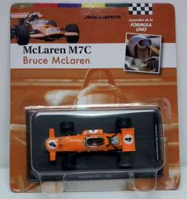 McLaren  - 1969 orange - 1:43 - Magazine Models - for04 - magfor04 | Tom's Modelauto's