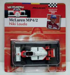 McLaren  - 1984 white/red - 1:43 - Magazine Models - for08 - magfor08 | Tom's Modelauto's
