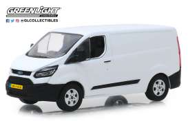 Ford  - Transit Custom V362 2016 frozen white - 1:43 - GreenLight - 51094 - gl51094 | Tom's Modelauto's