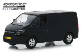 Ford  - Transit Custom V362 2016 shadow black - 1:43 - GreenLight - 51095 - gl51095 | Tom's Modelauto's