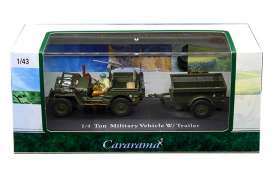 Willys  - army green - 1:43 - Cararama - 14901 - cara14901 | Toms Modelautos
