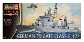 Revell - Germany - Blohm & Voss  - revell05143 : 1/300 German Frigate Class F122, level 4 plastic modelkit.
