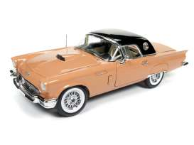 Ford  - Thunderbird Convertible 1957 coral sand/black - 1:18 - Auto World - amm1098 - AMM1098 | Tom's Modelauto's