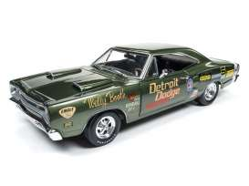 Dodge  - Super Bee *Wally Booth* 1969 green - 1:18 - Auto World - AW234 | Tom's Modelauto's