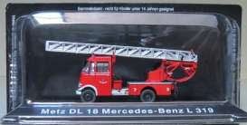 Metz Mercedes Benz - red - Magazine Models - fireL319 - magfireL319 | Tom's Modelauto's
