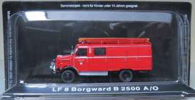 Borgward  - LF8 B2500 A/O red - Magazine Models - magfireB2500 | Tom's Modelauto's