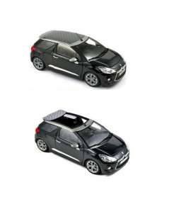 Norev - Citroen  - nor019115 : 2013 Citroen DS3 Cabrio, black