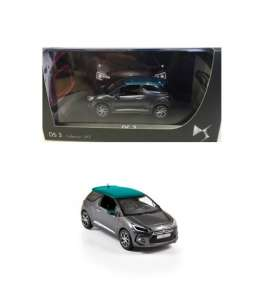 Norev - Citroen  - nor019487 : 2014 Citroen DS3, grey/emeraude