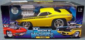 Plymouth  - 1970 yellow - 1:18 - Muscle Machines - musm61187y | Toms Modelautos