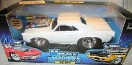 Pontiac  - 1966 white - 1:18 - Muscle Machines - musm61192w | Toms Modelautos