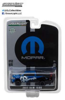 GreenLight - Dodge Ram - gl29887 : 2017 Ram 1500 Mopar Off-Road Edition *Hobby Exclusive*, blue/black