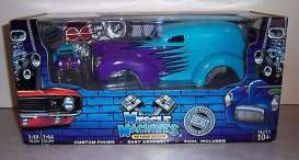 Ford  - 1940 blue/purple - 1:18 - Muscle Machines - musm61200bpu | Toms Modelautos