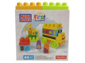 Mattel Mega Bloks - Mattel Mega Bloks Infants - MatDBK84 : Fisher Price Mega Bloks First Builders ABC Speel Schoolbus